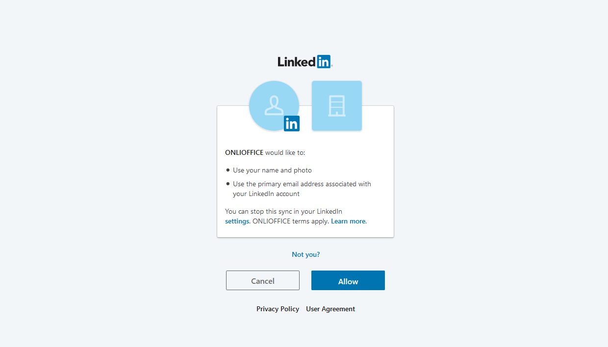 Connect LinkedIn to ONLYOFFICE