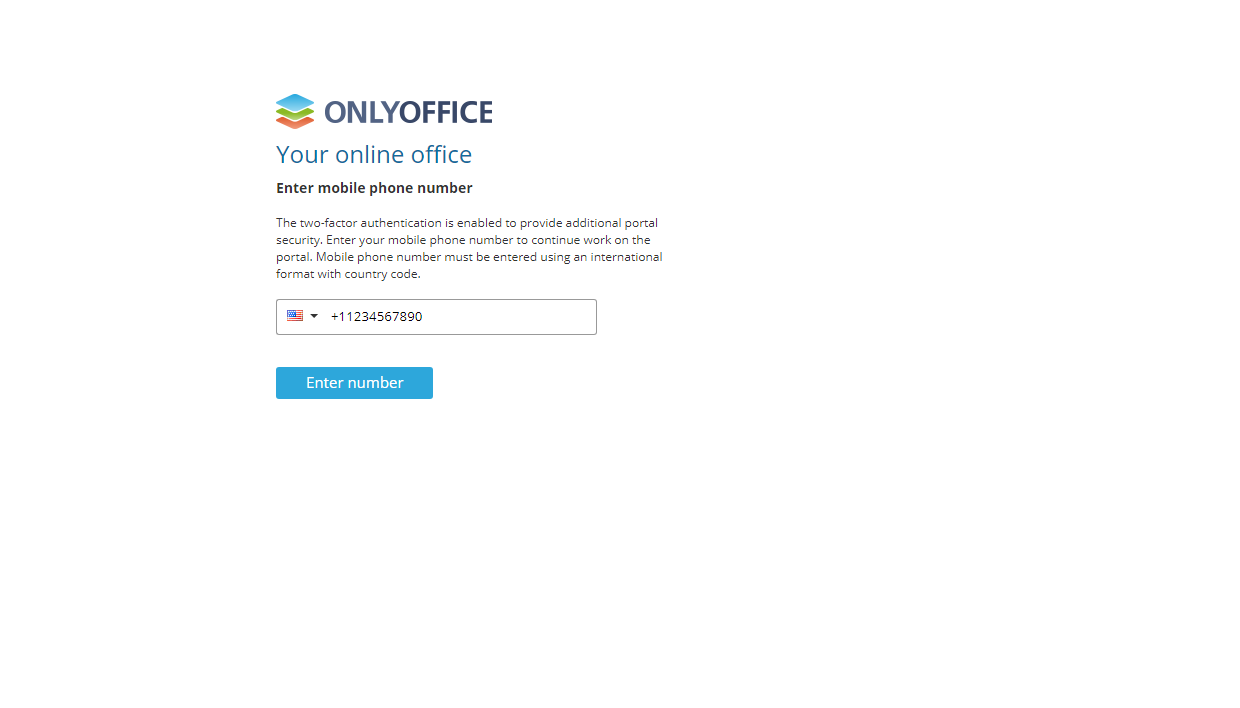 Two-factor authentication via Twilio in ONLYOFFICE