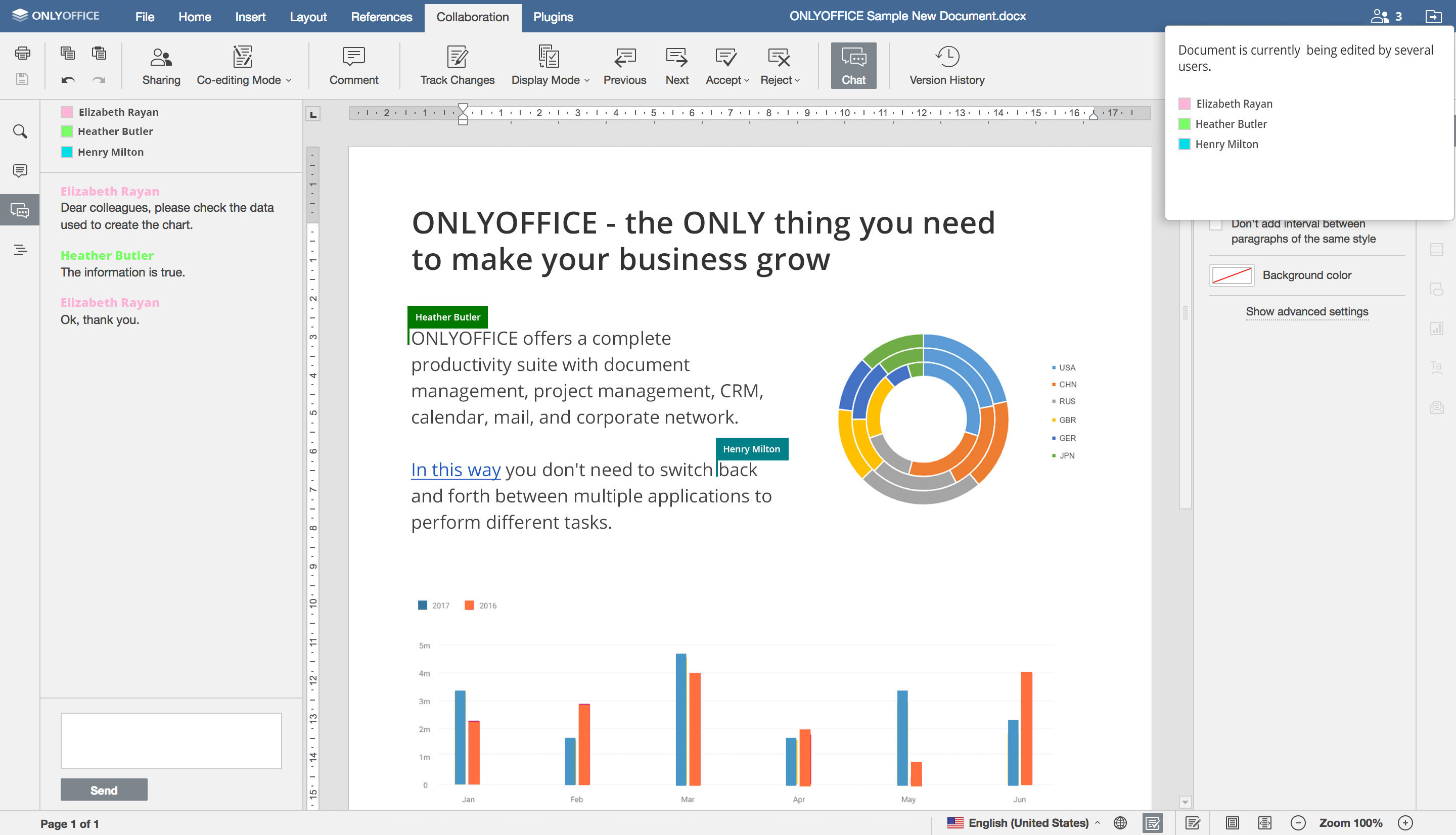 ONLYOFFICE - Online Office Applications for business
